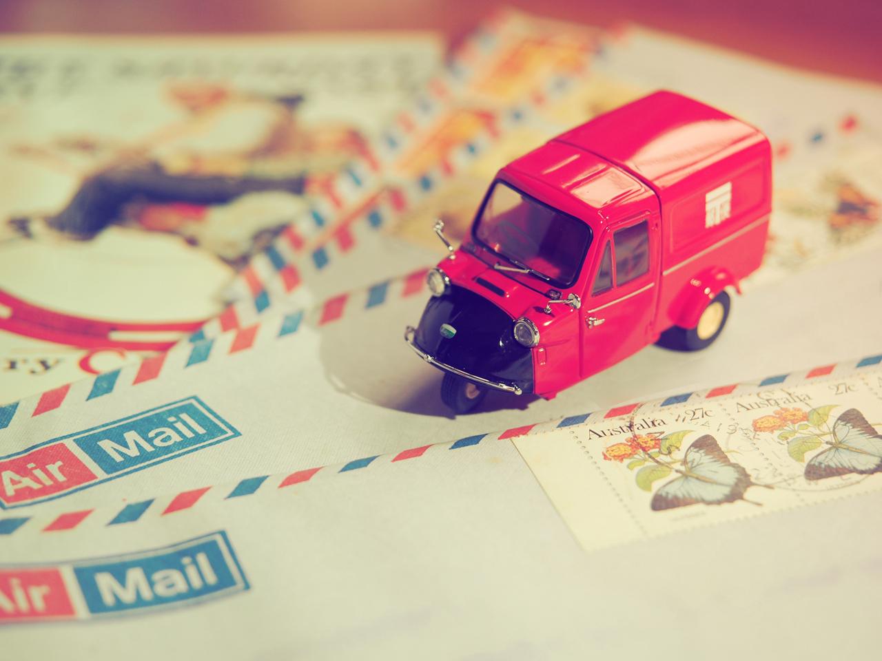 ミゼット郵便車展示例?1